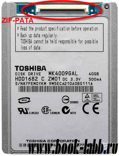 купить винчестер для ноутбука ZIF PATA Toshiba MK4009GAL 40Gb в Петербурге СПб