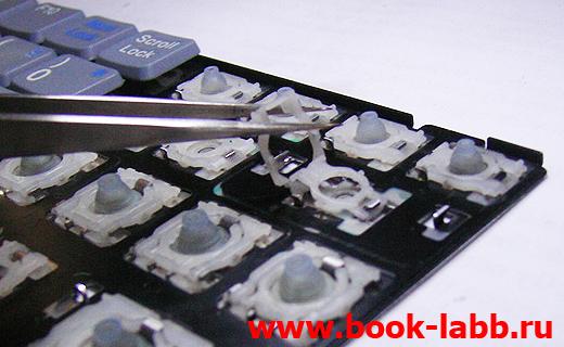 разборка клавиатуры ноутбука, ремонт клавы на ноуте