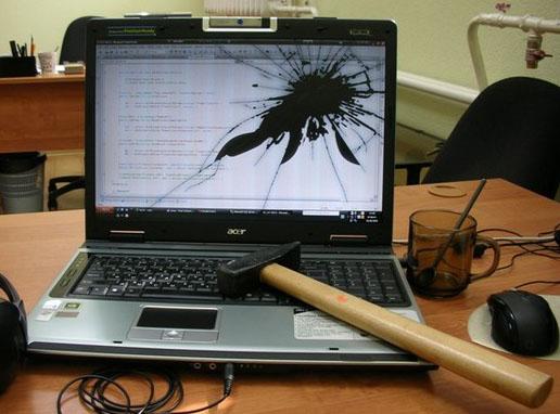 где заменить экран в ноутбуке