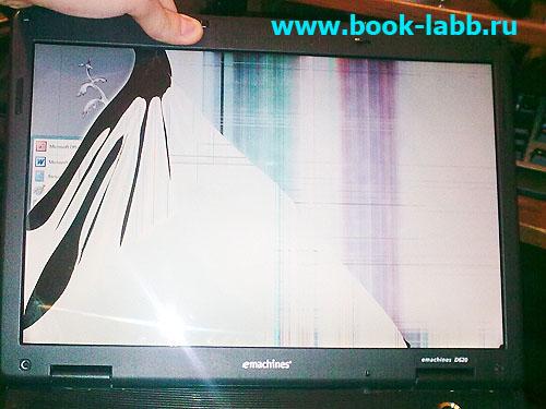 пропадает изображение при надавливании на край экрана ноутбука