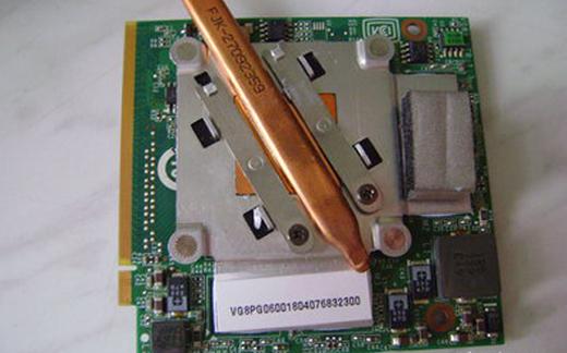 дискретная видеокарта ноутбука, система охлаждения видеокарты ноутбука